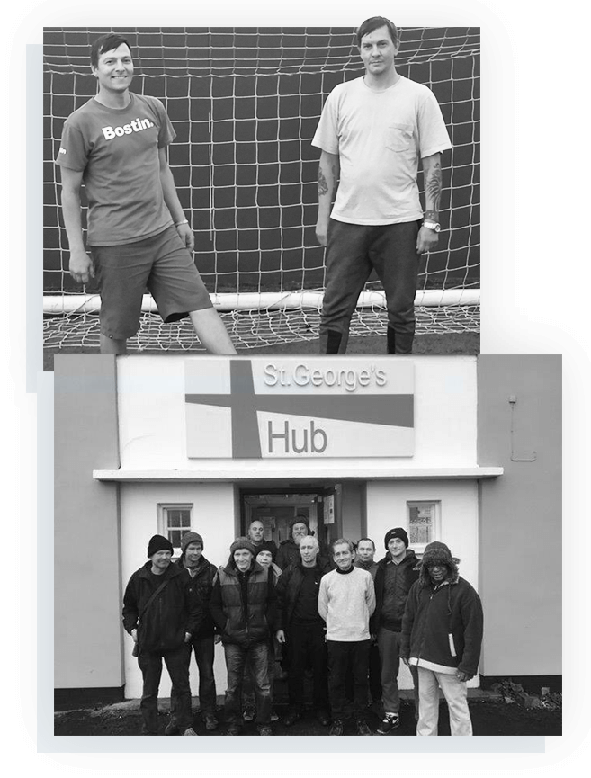 photos of people at St.George's HUB